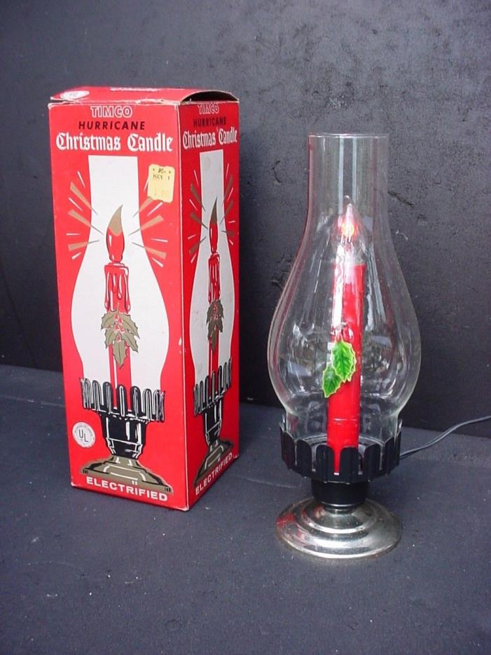 Vintage Lighted Christmas Candle Stick 11