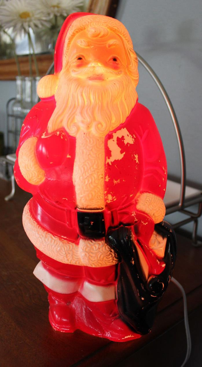 Empire 1968 Blow Mold Table Top Santa Toy Sack 13
