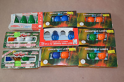 Lot of  33 Vintage Christmas Light Bulbs C-7 1/2 #1550