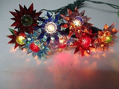 8 C-6 ILLUMIBRITE MATCHLESS STAR Christmas Lights -  ASSORTED COLORS #311