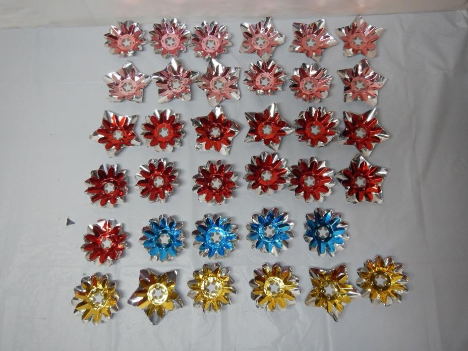 Vintage Christmas Tree Foil Light Reflectors Lot of 35
