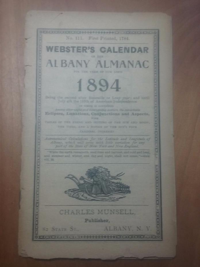 Almanac 1884   farm and weather information