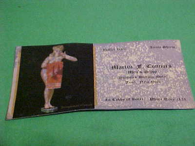 VINTAGE INK BLOTTER CALLING CARD MARTIN F. CONNORS MENS SHOP TROY NEW YORK