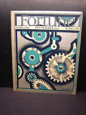 Viintage Fortune Magazine September 1932 Volume VI Number 3