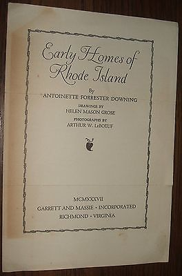 1937 Order Form First Edition copy of Early Homes of Rhode Island by A. Downing