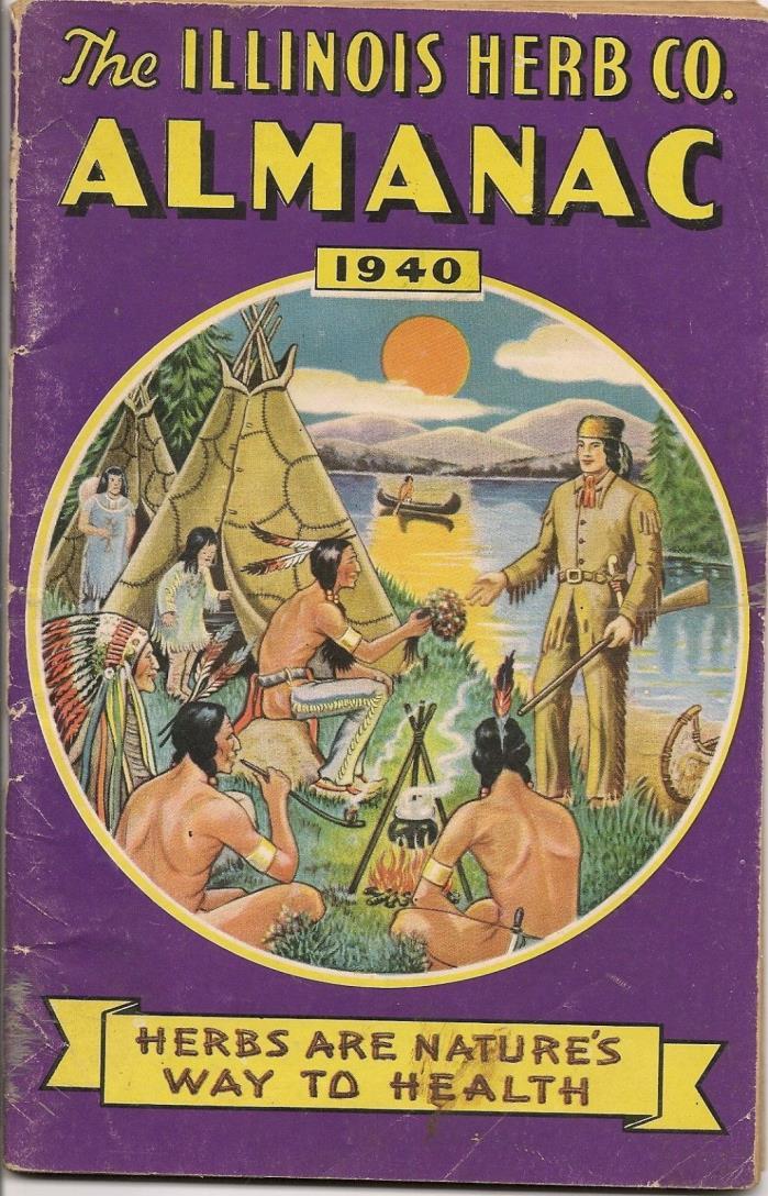 1940 ILLINOIS HERB COMPANY ALMANAC illustrated