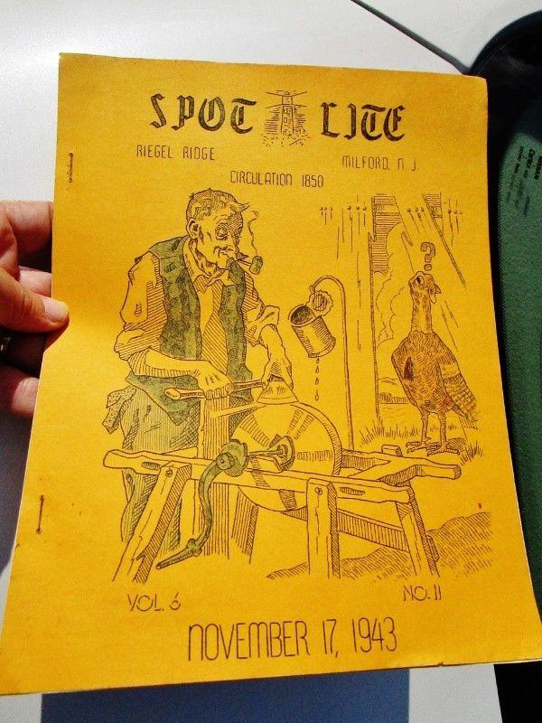 1943 SPOT LITE Riegel Paper Corp Employees News WW2, RIEGEL RIDGE, MILFORD, NJ