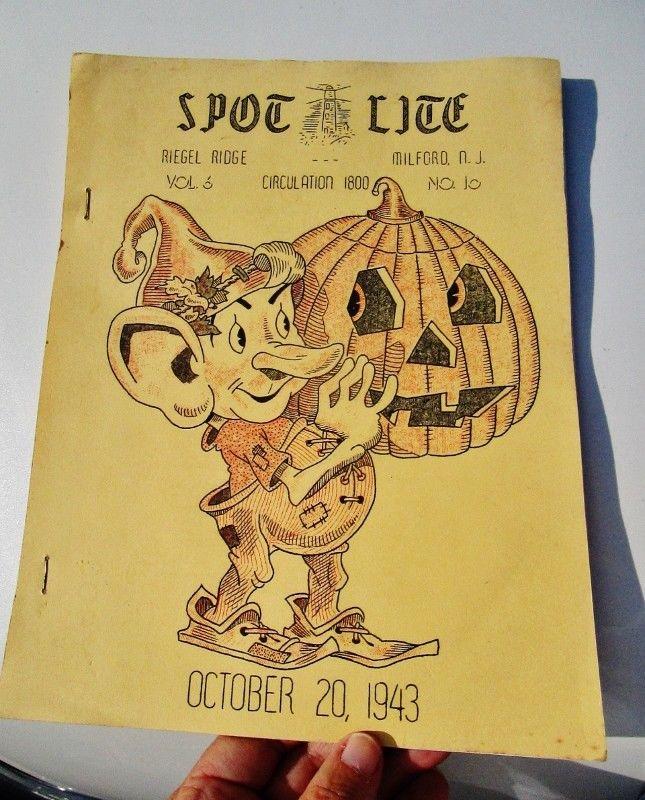 1943 SPOT LITE Riegel Paper Corp Employee News WWII, RIEGEL RIDGE, MILFORD, NJ