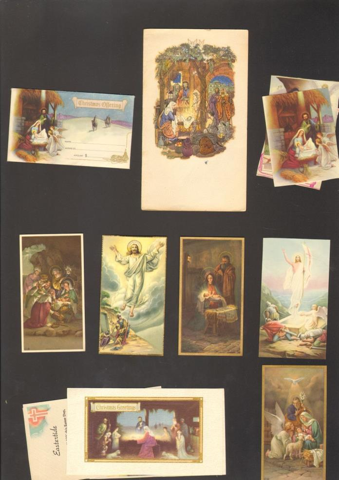 1938 to 1946 Xmas and Greeting cards from St Marys Church Hagerstown Maryland MD
