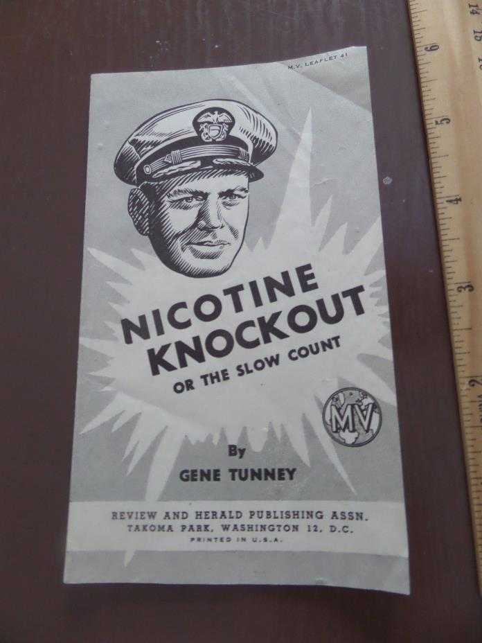 1948 Nicotine Knockout By Gene Tunney