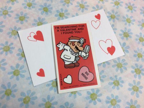 1992 Dr Mario Valentines Card 90s Holiday Card Nintendo Super Mario