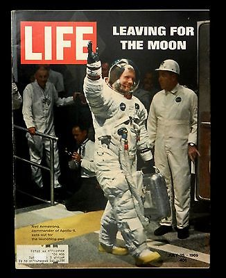 Vintage Life Magazine July 25 1969 Neil Armstrong Leaving For The Moon