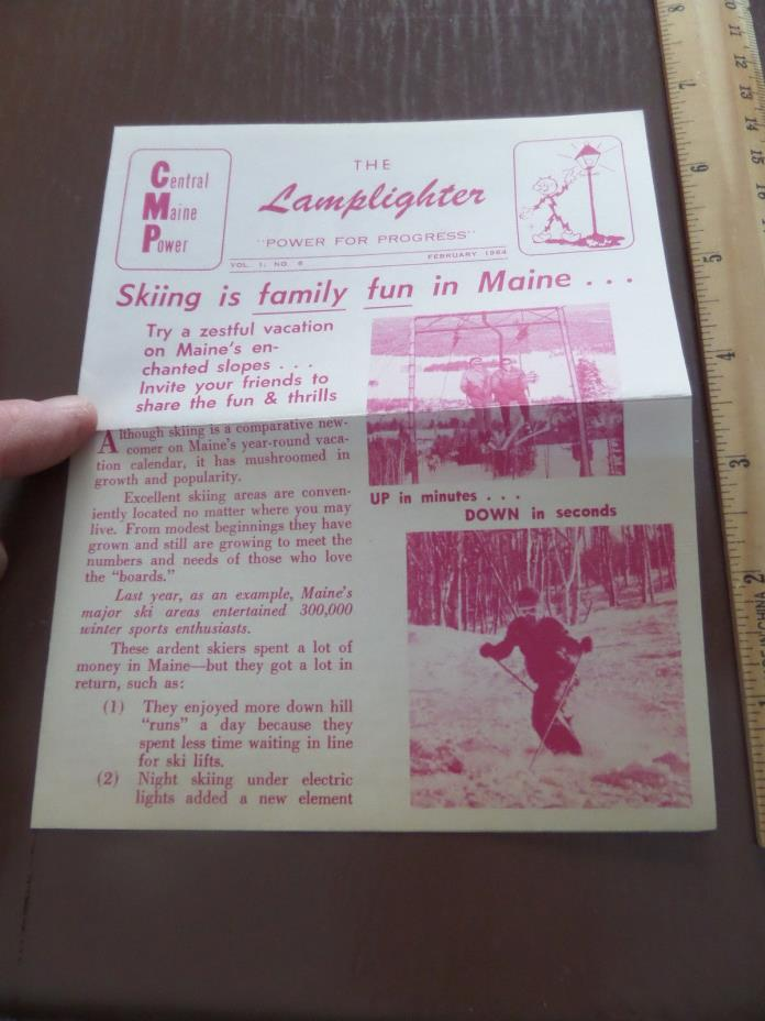 1964 The Lamplighter - Central Maine Power - Skiing in Maine!