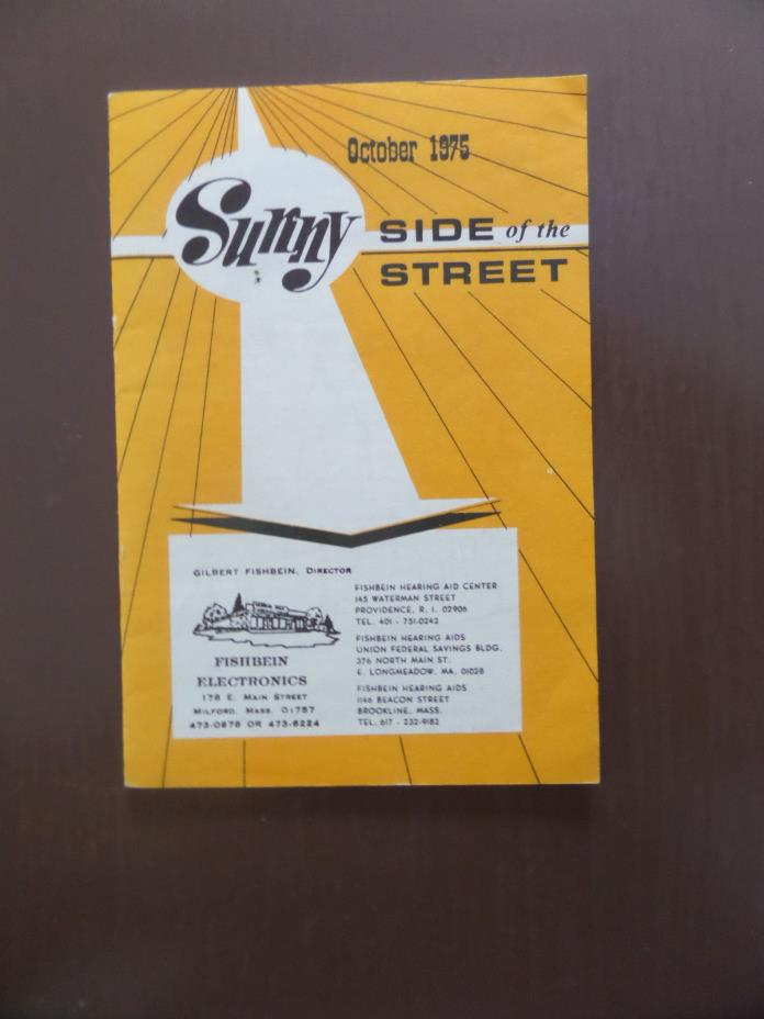October 1975 - Sunny Side of the Street Publication