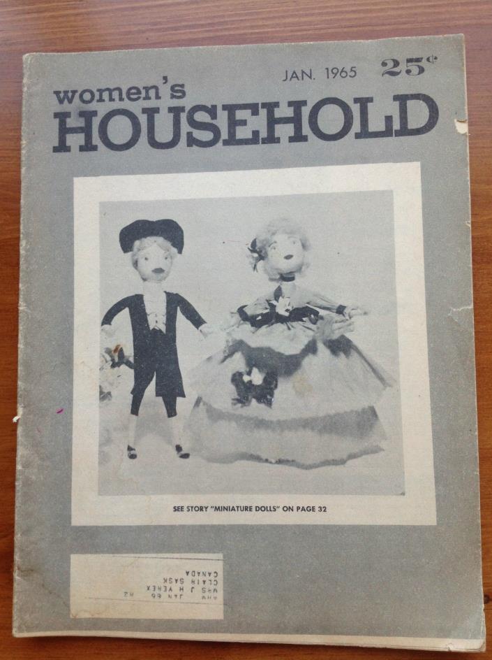 Vintage Women's Household January 1965 Paper Magazine