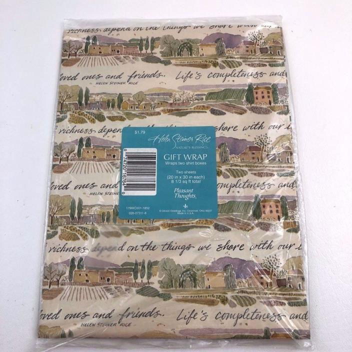 Vintage Gift Wrap Helen Steiner Rice Nature's Blessings Wrapping Paper 2 Sheets