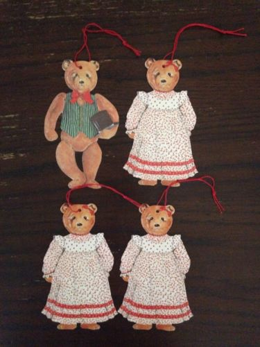 Vintage Christmas Decoration Gordon Fraser Gallery Gift Tags Bear Family
