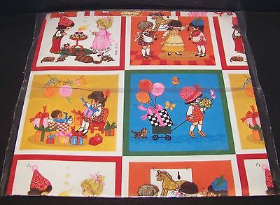 Birthday Gift Wrap Vintage Wrapping Paper Kids Children Balloons