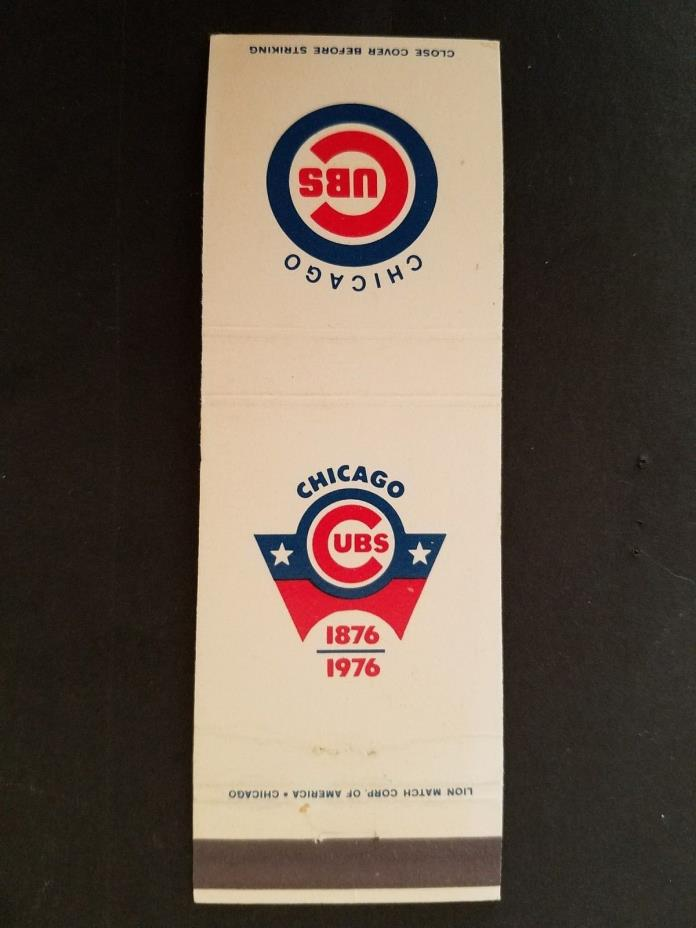 Chicago Cubs 1976 100th Anniversary Matchbook Cover - UNSTRUCK