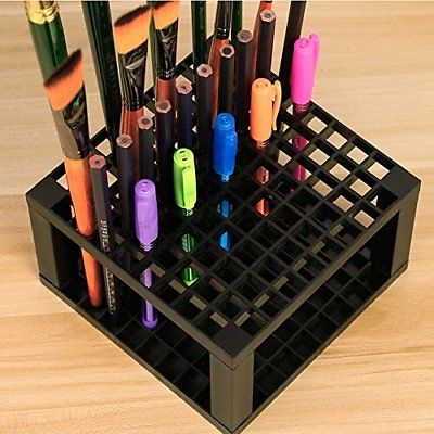 Art Paint Brush Holder Organizer Desk Stand Drawing Markers Makeup Storage