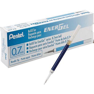 Pentel Gel Pen Refills f/EnerGel 0.7mm Needle Tip 12/BX BE Ink LRN7CBX