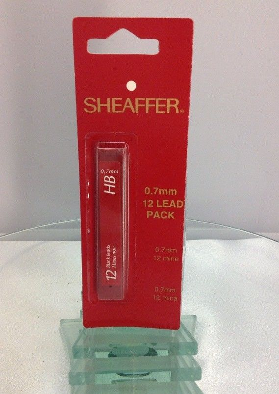 Sheaffer HB 0.7mm Black Pencil Lead 12 Lead Pack - New Original Package