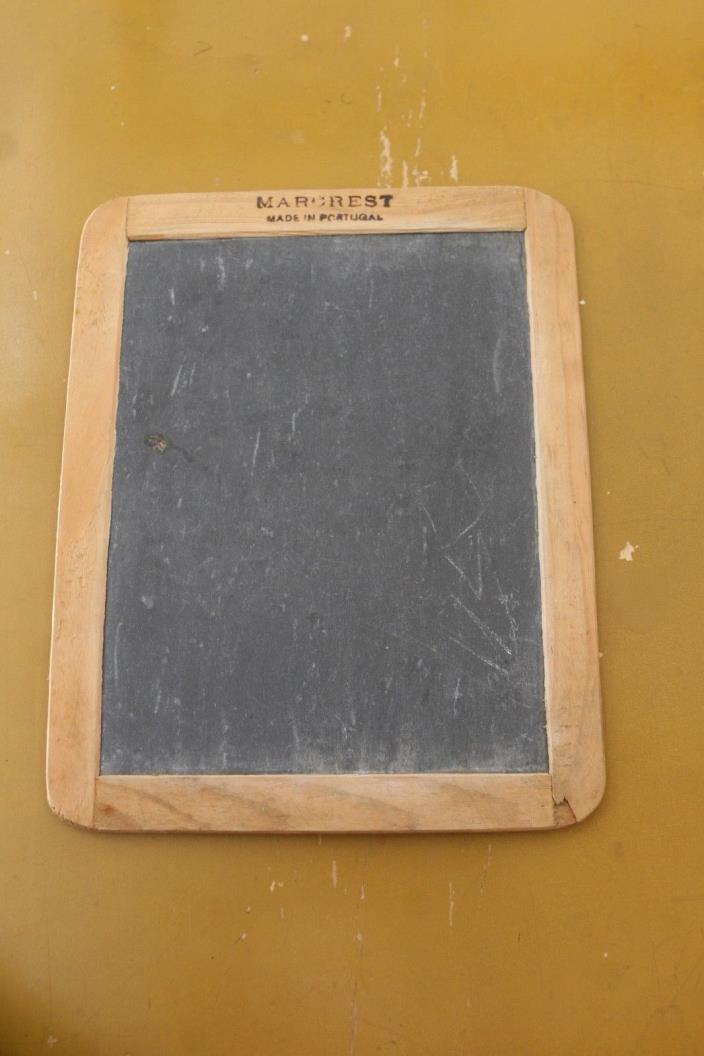 Vintage Stone Slate Blackboard Advertising MARCREST Made in Portugal 7.5x9.5