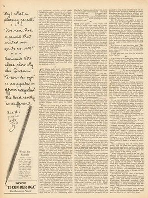 1925 Dixon Pencils Jersey City NJ Toconderoga-Vintage 1920s Magazine Ad