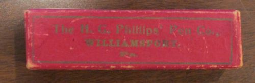 Vintage HG  Phillips Pen Co Williamsport PA Box Empty