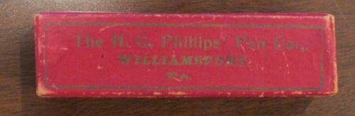 Vintage HG  Phillips Pen Co Williamsport PA Box Empty