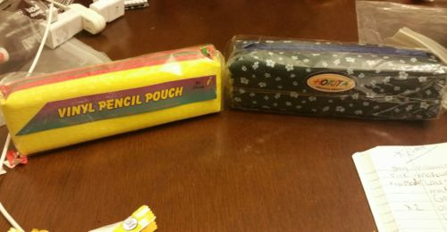 Lot of 2 vinyl pencil pouch