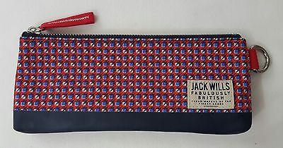 Jack Wills - Scarborough Pencil Case - Red Geo