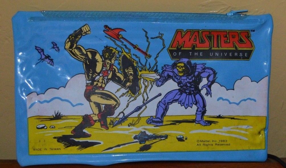 Mattel 1983 Masters of the Universe Zipper Pencil Case