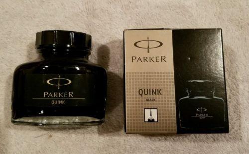 Parker Super Quink Permanent Ink Refill, 2-ounce Bottle, Black (S0037460)