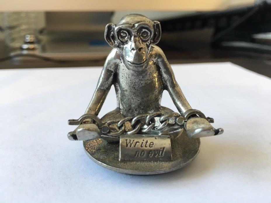 Jac Zagoory Mini Write No Evil Monkey Pen Holder