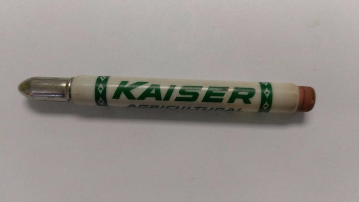 VINTAGE ADVERTISING  BULLET  PENCIL KAISER AGRICULTURAL CHEMICALS