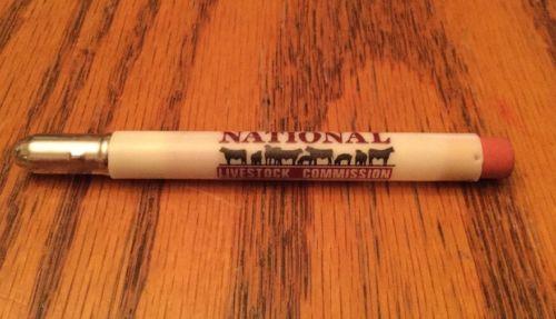 Vintage Advertising Bullet Pencil National Livestock Commission
