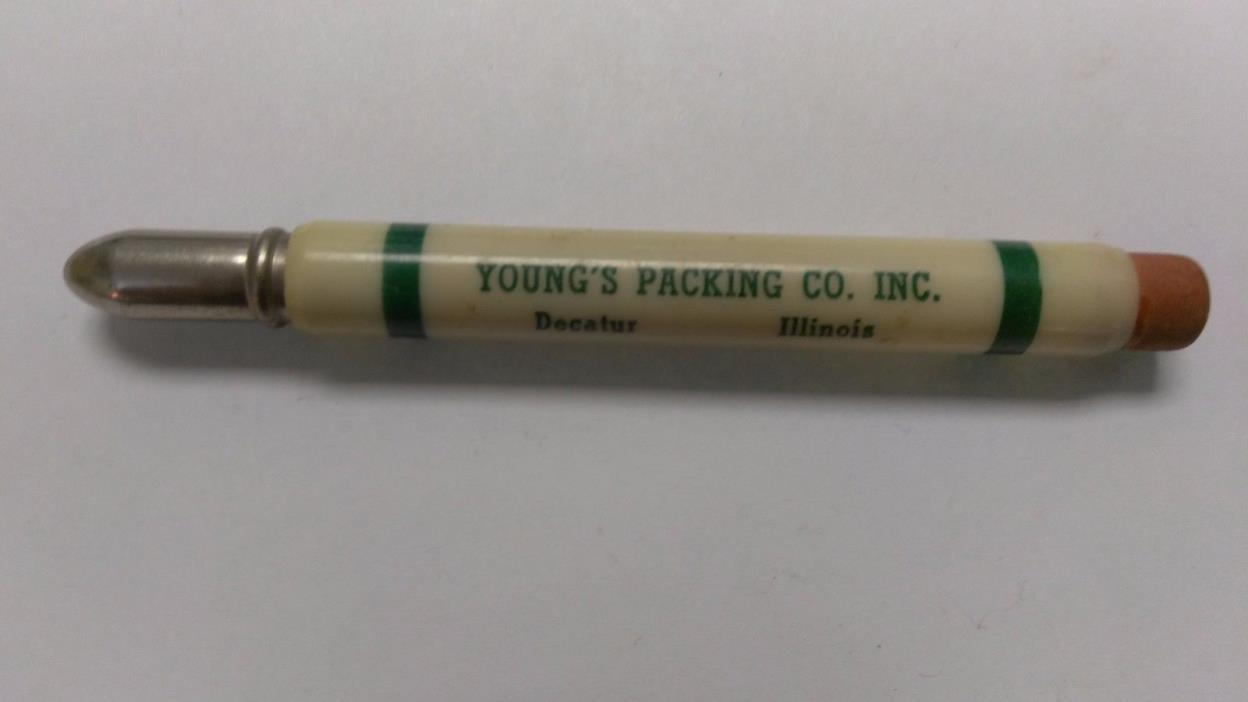VINTAGE BULLET PENCIL YOUNG'S PACKING CO DECATUR ILL ILLINOIS IL