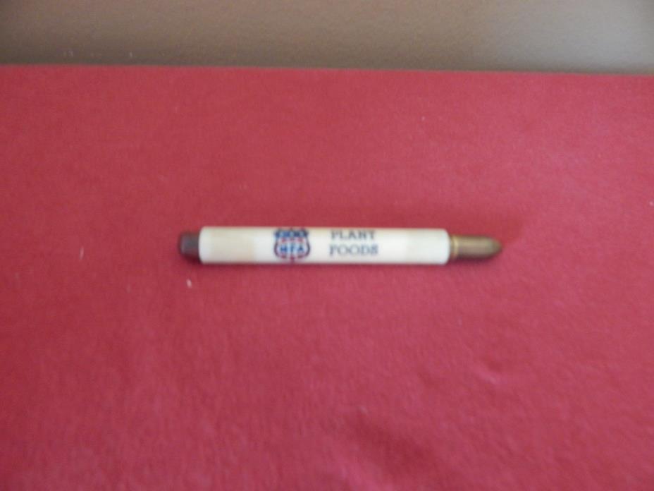Vintage MFA Plant Food Advertiser Bullet Pencil