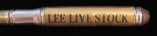 Vintage Advertising Bullet Pencil Lee Livestock Omaha Nebraska