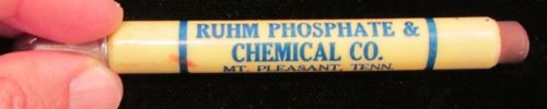 Advertising Mt Pleasant TN Ruhm Phosphate Chemical Bullet Pencil