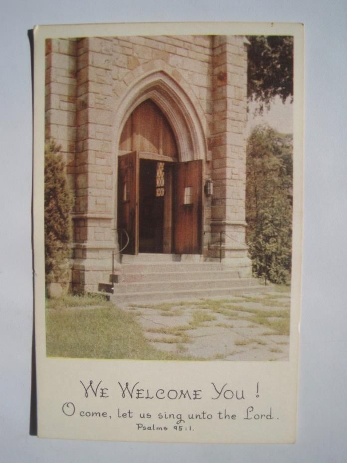 Welcome to Church; Join Us Again; Vintage Letter Postcard; Mint
