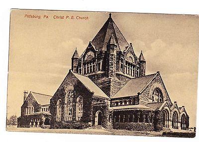 PITTSBURGH PA. CHRIST P.E. CHURCH POSTCARD