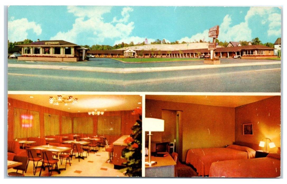 1950s Eldorado Motel w/ Interior Decor Views, Cleveland, OH Postcard