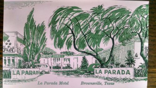 FIVE(5)Vintage Hotel Post Cards. La Parada Hotel Brownsville, TX UNPOSTED Cards