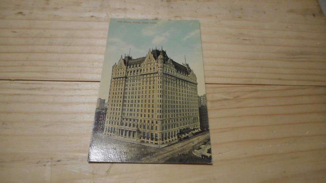 HOTEL  THE PLAZA HOTEL NEW YORK CITY  POSTCARD 1908  EARLY MID 1900S