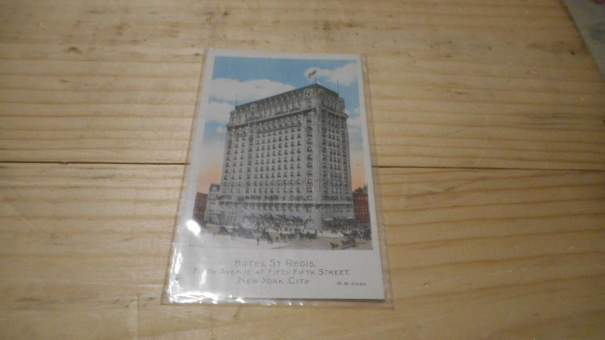 HOTEL  ST REGIS 5TH 55TH RM HANN NEW YORK CITY  POSTCARD  EARLY MID 1900S