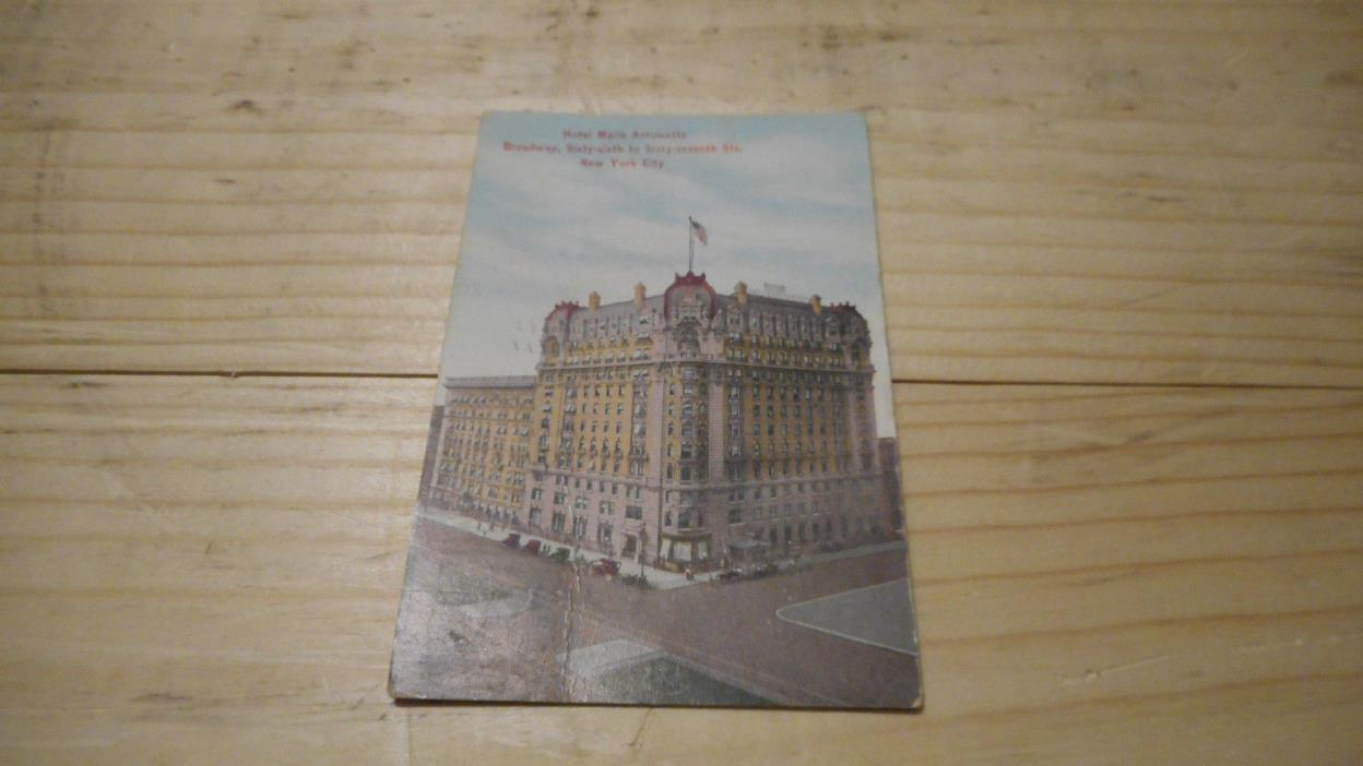 HOTEL  MARIE ANTOINETTE 66TH 67TH 1912 NEW YORK CITY  POSTCARD  EARLY MID 1900S