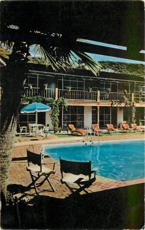 1956 Santa Ynez Inn Pacific Palisades California Color Sales pool 12482