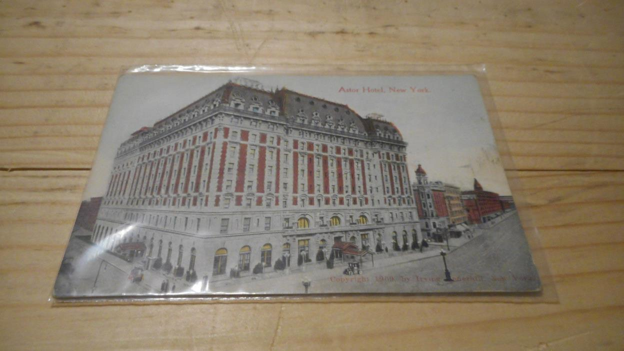 HOTEL  ASTOR NEW YORK CITY  POSTCARD 1910  EARLY MID 1900S